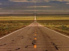 """U.S. Route 50 - with the section through Nevada known as """"The Loneliest Road in America""""."""