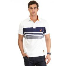 Engineered Stripe Tech Pique Polo Shirt - Bright White. Get Sizzling discounts up to 50% Off at Nautica using Coupon and Promo Codes.