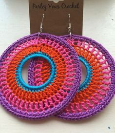 Boho crochet earrings … by virgie