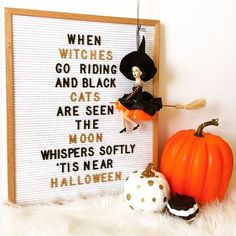 If this doesn t make you feel all festive-y nothing will And how about those gold spray painted letters restlessrisa risabaker Letterfolk Halloween Quotes, Halloween Kostüm, Halloween Cupcakes, Holidays Halloween, Halloween Decorations, Whimsical Halloween, Fall Decorations, Holiday Crafts, Holiday Fun