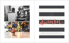 December Daily 2014 Day 4 | Lego Advent | 8x10 Blurb photo book pocket page layout | yolandamadethis.com