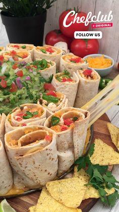 I Love Food, Good Food, Yummy Food, Tasty, Family Reunion Food, Healthy Snacks, Healthy Recipes, Burritos, No Cook Meals