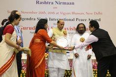 Peace Award To Sri Sri Ravi Shankar Ji