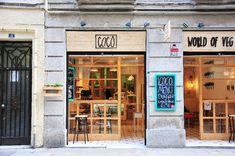 coco, restaurant et burgers végétariens, barcelone
