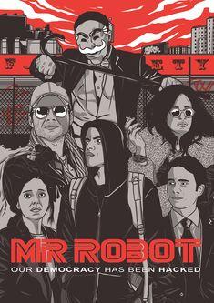 Mr Robot Poster Illustration on Behance