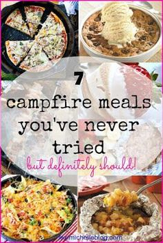 If you've grown tired of the classic smores & hot dog routine, you will be pleasantly surprised with these creative (&easy) takes on camping food.