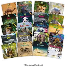The Zoozoo Animal World Big Book Set contains one big book version of 20 of the titles in the Zoozoo Animal World series. All titles are nonfiction and have teacher talking points in the back. Guided reading level range: D–G. Leveled Books, Leveled Readers, First Grade Words, World Teachers, Grammar Skills, Guided Reading Levels, First Grade Classroom, Animal Books, World's Biggest