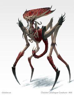 Hinodarthian - Creature concept by Cloister.deviantart.com on @DeviantArt