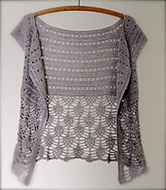 Ariane Crochet Cardigan - free crochet pattern  in English and French (Ravelry)