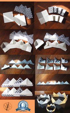 Photo and folds by Tereza Yamashita. Creation d - Top Paper Crafts Adult Crafts, Fun Crafts, Diy And Crafts, Crafts For Kids, Arts And Crafts, Origami Design, Kindergarten, Art Activities, Diy Flowers
