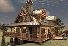 Floor Plan - Avalon Log Homes
