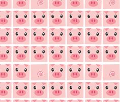 Piggy Delight fabric by me-udesign on Spoonflower - custom fabric