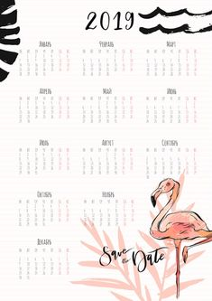 "Printable 2019 Wall Desk Calendars : How are you all, I hope all of you are in good condition, and all your work plans are running smoothly. This time we will share some ""Printable 2019 Wall Desk Calendars"". To Do Planner, Monthly Planner, Planner Pages, Planner Stickers, Filofax, Cute Calendar, Daily Diary, Calendar Wallpaper, Desk Calendars"