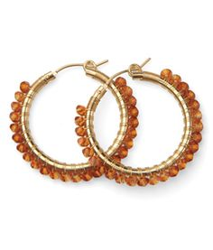 Viv & Ingrid Wrap Hoop  Crystal Copper Swarovski