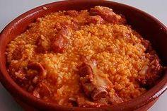Arroz con costillas. Hoy tenemos de menú un buen plato de arroz con costillas.
