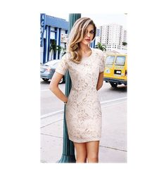 Round collar lace dress 9003