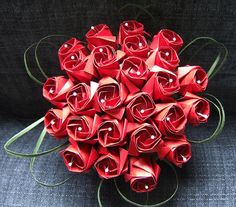 Origami Red Rose Bouquet