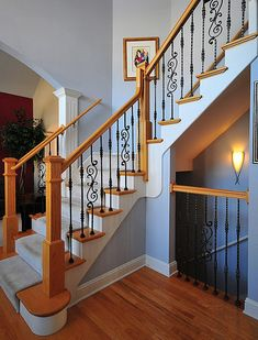 Island Custom Stairs manufactures custom wood railings, custom banisters, and elegant staircases for homes in New York and on Long Island. Description from stairsfai.com. I searched for this on bing.com/images