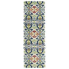 Hand-tufted de Leon Boho Ivory Rug (2'6 x 8')