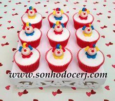 Cupcakes Palhacinhos! curta nossa página no Facebook: www.facebook.com/sonhodocerj