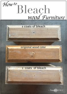 Easy Bleached Wood Furniture Remington Avenue - DIY Home Decor Refurbished Furniture, Paint Furniture, Repurposed Furniture, Furniture Projects, Rustic Furniture, Furniture Makeover, Bedroom Furniture, Furniture Stores, Cheap Furniture