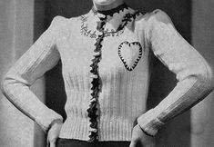 Link to download the FREE pattern for Feather-in-Your-Cap Cardigan Pattern #1058