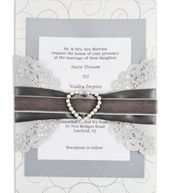 Bliss Pearl Heart Invitation