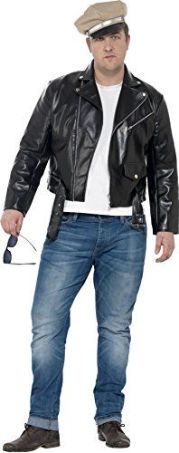 Smiffys Mens 1950s Rebel Costume Jacket and Hat Rockin 50s Serious Fun Plus Size XL 24463 >>> Click for Special Deals  #AdultCostumes