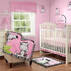 Zebra Crib Set for baby girl! So cute!!!
