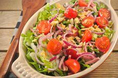 lekkere gezonde salade met balsamico-dragon dressing