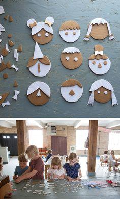 Caras de cartón