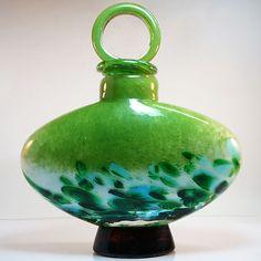 Murano Glas Vase Flasche • 2 kg • Höhe 25,5 cm