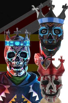 Games Online, Game & Watch, Skull Mask, Carnival Masks, Halloween Face Mask, Latex, Horror, Superhero, Comics