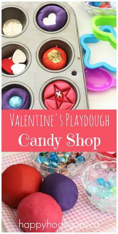 "Valentines Play dough Activity - ""The Candy Shop"" - Happy Hooligans"