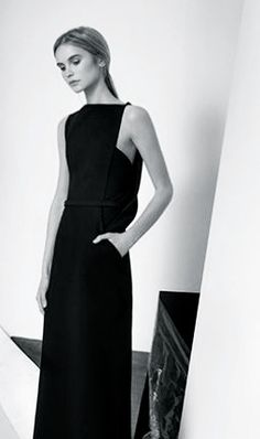 Sleek Black Dress - chic minimal fashion, minimalist style // Zaid Affas