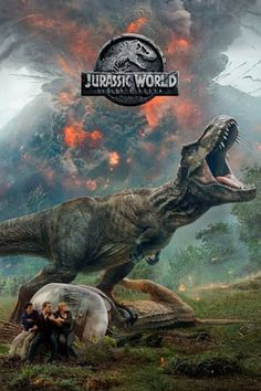 The official title and a new poster for the sequel to 'Jurassic World' have been revealed. Hitting theatres on June the upcoming installment, once again starring Chris Pratt and Bryce Dallas Howard, will be called 'Jurassic World: Fallen Kingdom'. Jurassic World Park, Jurassic World Fallen Kingdom, Jurassic Park Poster, Jurassic Park Quotes, 2018 Movies, Hd Movies, Movies To Watch, Movies Online, Movie Tv