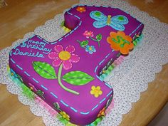 First birthday cake-girl charley.salas@sbcglobal.net by Charley And The Cake Factory, via Flickr