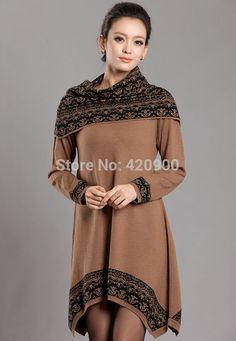 Корейский женщины в длинная свитера кашемир свитер платье неправильная без тары большие размер женщины зима свитер S 4XL купить на AliExpress