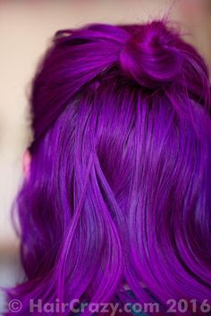 Photo of Queeny using Arctic Fox - Violet Dream, Directions Flamingo Pink, Special Effects Deep Purple, Stargazer Magenta - September 2016 a. Funky Hair Colors, Hair Color Purple, Hair Dye Colors, Cool Hair Color, Colorful Hair, Dyed Hair Purple, Violet Hair, Ombre Hair, Deep Purple Hair