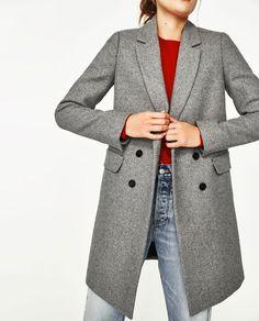 Abrigo gris marengo mujer