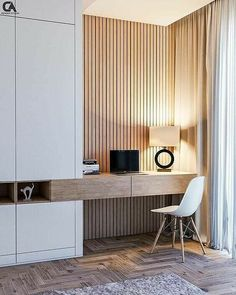 Interior Design Website, Office Interior Design, Home Office Decor, Office Interiors, Home Decor, Wood Interiors, Home Room Design, Living Room Designs, Study Room Design