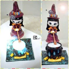 handmade witch-candle