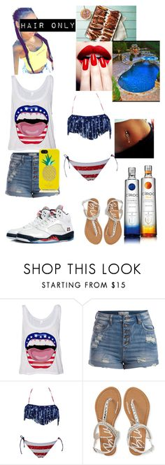 """""""Happy Fourth of July!!☆"""" by jionnechanelle ❤ liked on Polyvore featuring beauty, Pieces, Aéropostale, NIKE, Kate Spade, Nails Inc. and imadrowntho"""