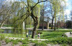 Prinsentuin, city park in Leeuwarden, The Netherlands