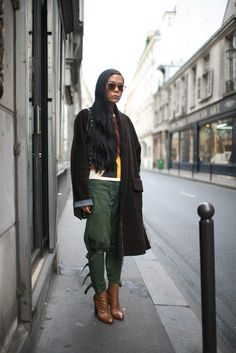 via They Are Wearing: Paris Fashion Week. LOVE the pants!