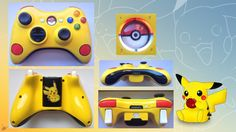 Pikachu Custom Xbox 360 Controller VERSION 2.0!! by CARDI-ology Love it!!!