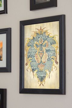 World of Warcraft Alliance Art Print   Framed by SkahfeeStudios, $40.00 Love this!!!