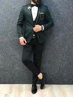 92fb09584572 12 Best Green tuxedo images in 2018 | Dress wedding, Wedding attire ...
