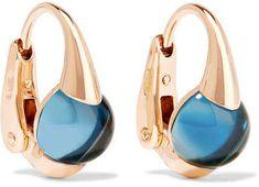 Pomellato - M'ama Non M'ama 18-karat Rose Gold Topaz Earrings   #rosegold  #earrings