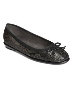 Love this Black Embossed Fast Bet Flat on #zulily! #zulilyfinds